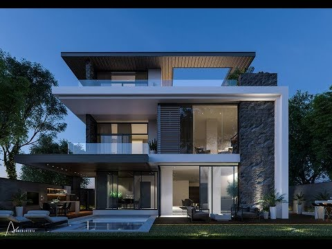 Modern Private Villa in Cairo, Egypt by Ahmed Shehta