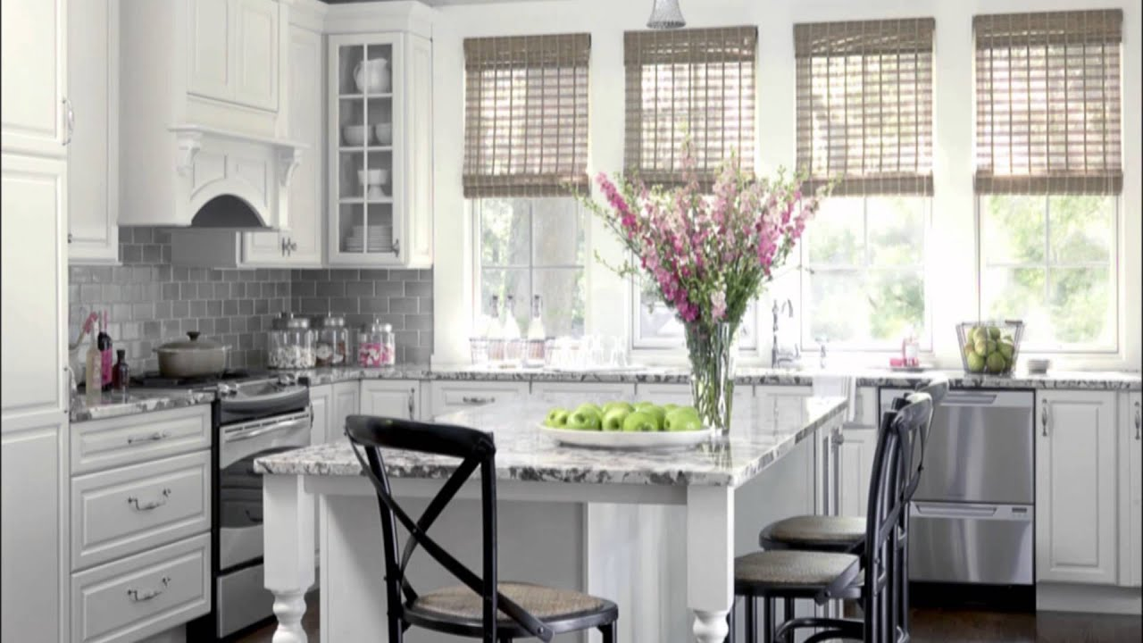 Kitchen design white color scheme ideas youtube for New kitchen colors schemes