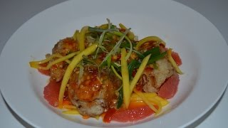FISH WITH MANGO SPICY SAUCE