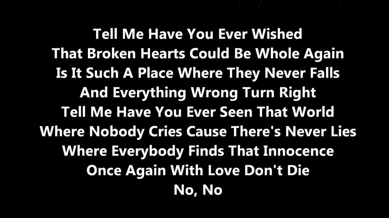 If your hearts not in it lyrics