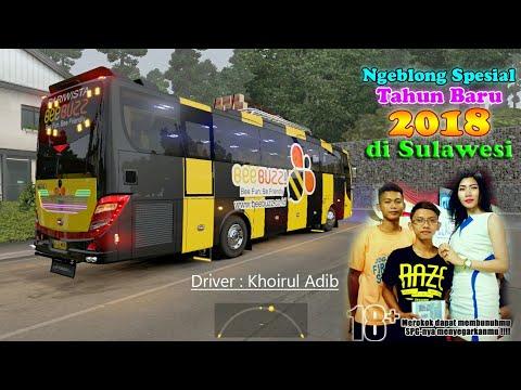 Ngeblong tahun Baru 2018 di Sulawesi bus Body Lawas