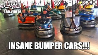 INSANE Bumper Cars! 360 Degree POV Knoebels Amusement Park Pennsylvania