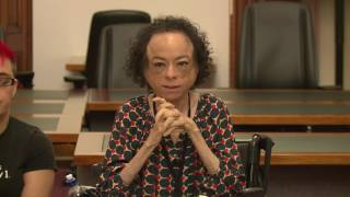 Liz Carr speaks at Victorian parliament about assisted suicide