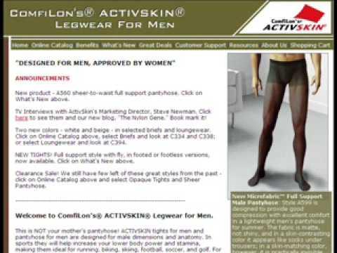 Comfilon Men's Pantyhose Interview on NPR, Feb. 23, 2002