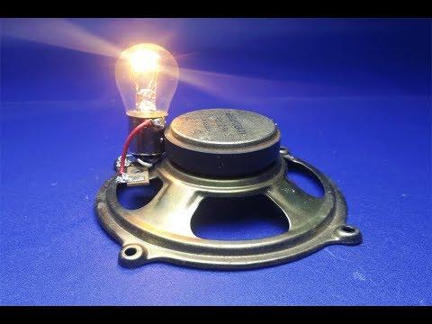 free-energy-speaker-magnets-with-light-bulbs-12v,-at-home