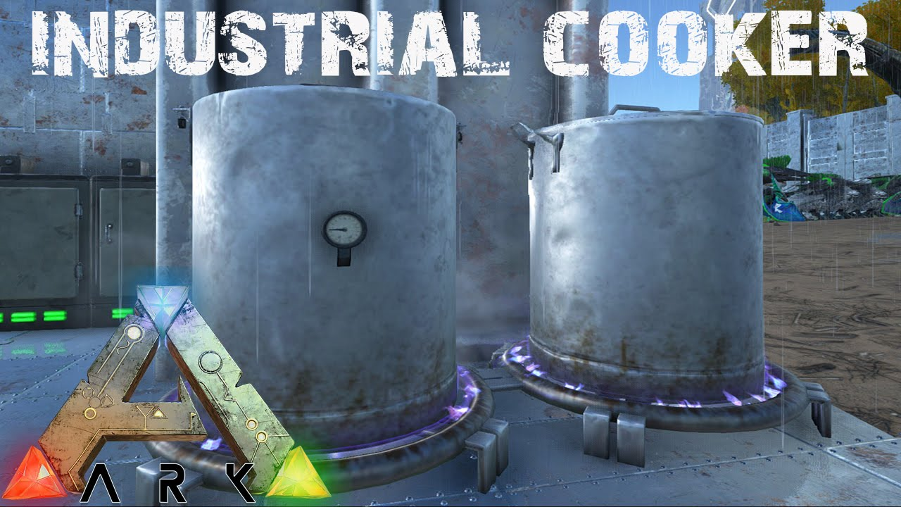 Ark Survival Evolved Industrial Cooker Fastest Dye Kibble Ever