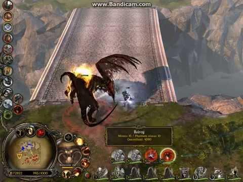 LOTR BFME2 - Sauron & Balrog VS Galadriel