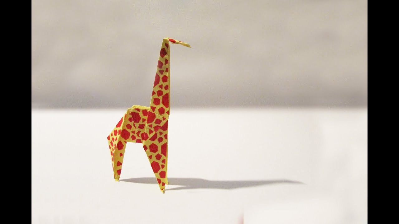 Giraffe Origami Diagram Embroidery Origami