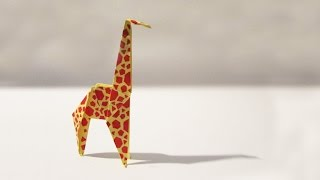 Origami Giraffe - Tutorial - How to make an origami giraffe - Origami Time