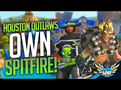 Overwatch: Houston Outlaws OWN Spitfire! - Blizzard World Pro Play!