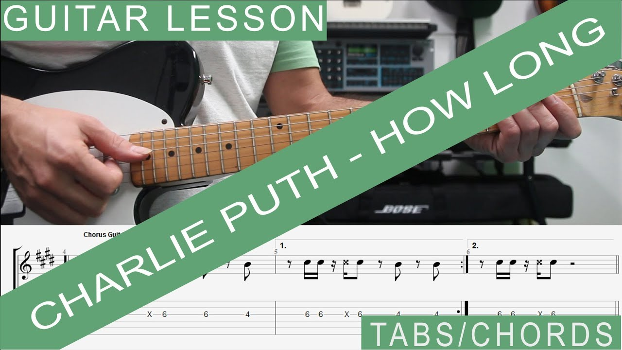 Charlie puth how long guitar lesson tab tutorial how to play charlie puth how long guitar lesson tab tutorial how to play chords and note per note hexwebz Images