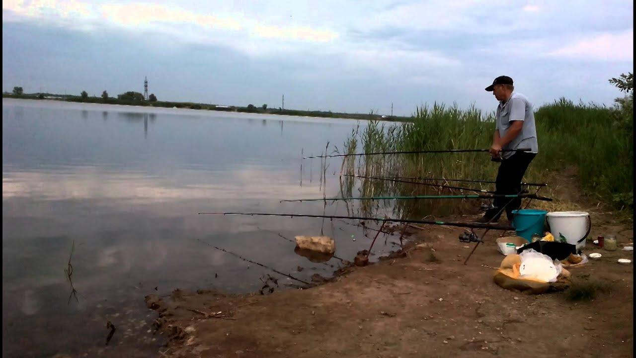 рыбалка на пруду в самарском