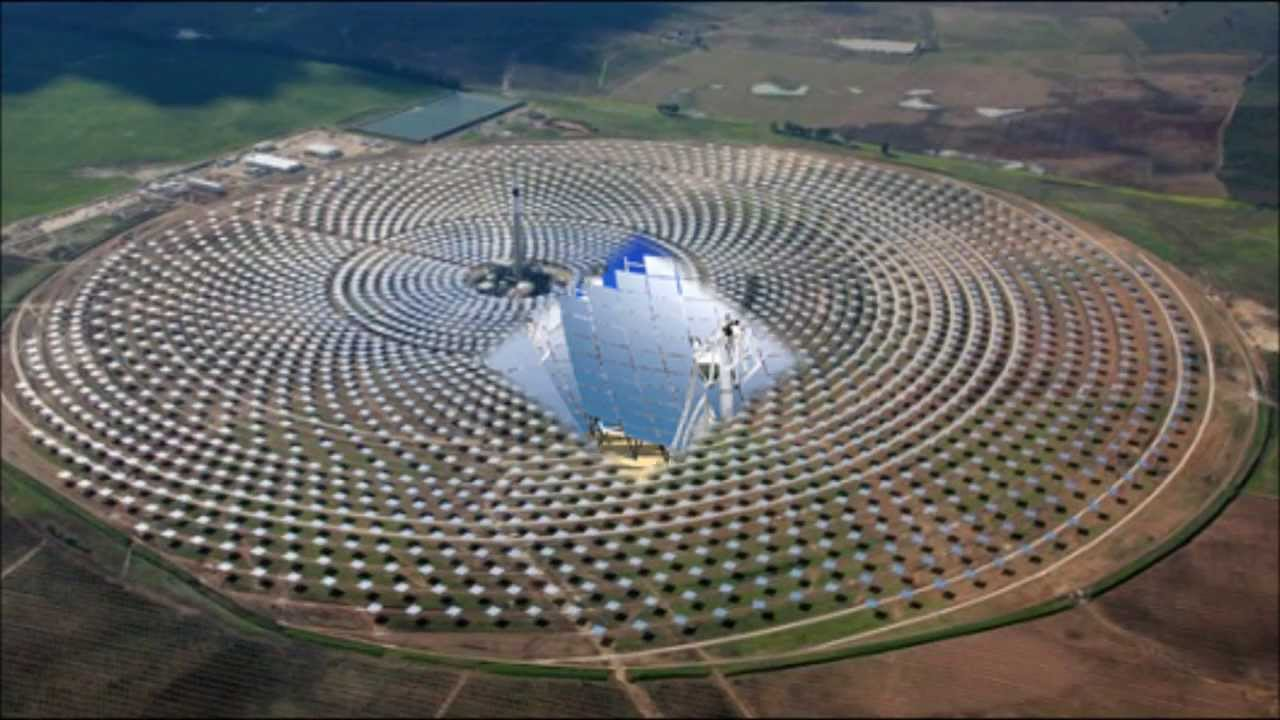 worlds biggest solar power plant opens at california - YouTube