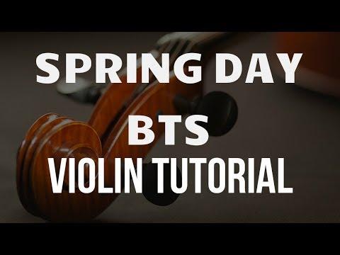 Violin Tutorial: Spring Day (BTS)