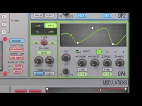 WIGGLE 1.0.3 Update Demo - Wave Type Mix function