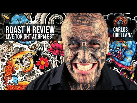 Would You get a Face Tat? We did on the Roast N Review!