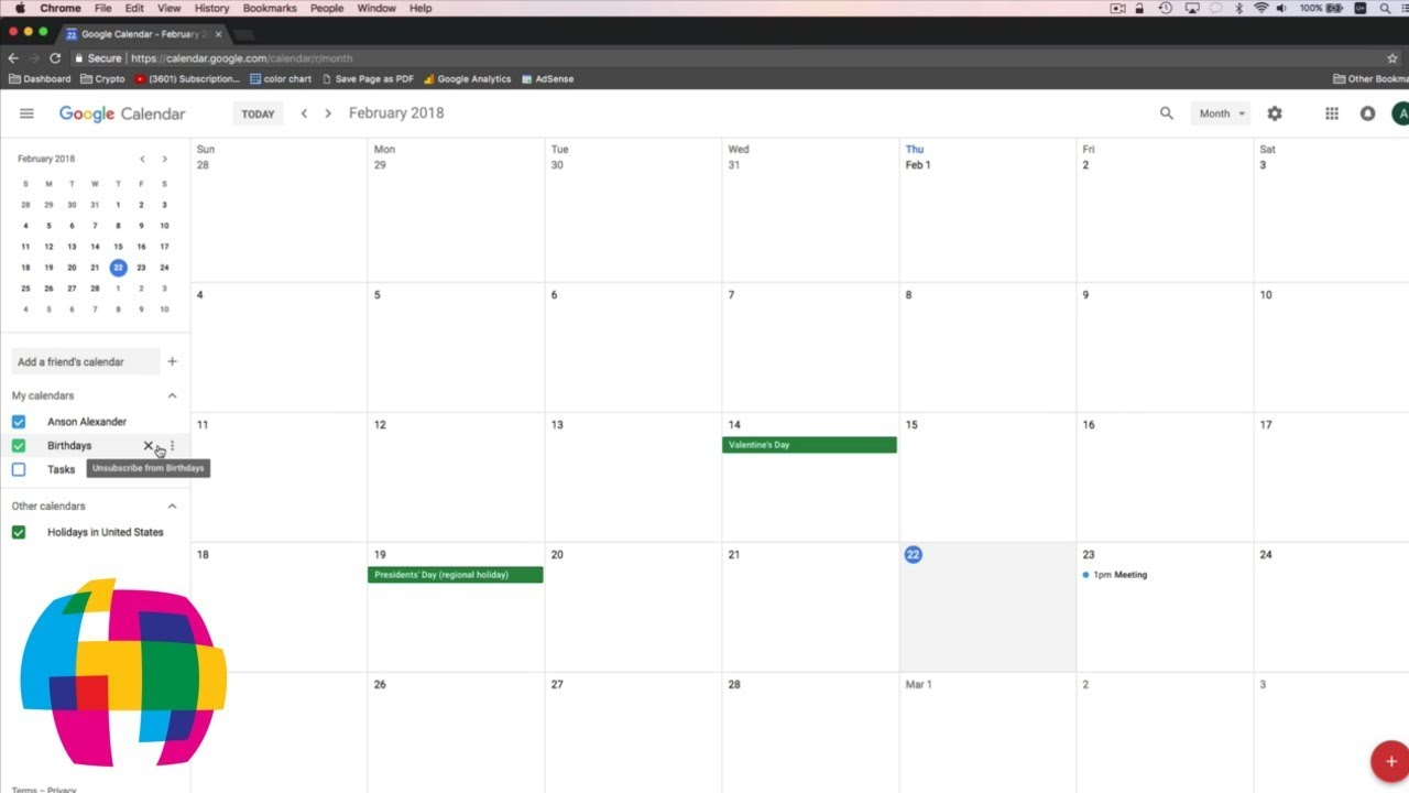 Google Calendar Tutorial 2018 Quick Start Training