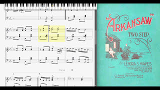 Arkansaw by Lenora S. Hawes (1906, Ragtime piano)