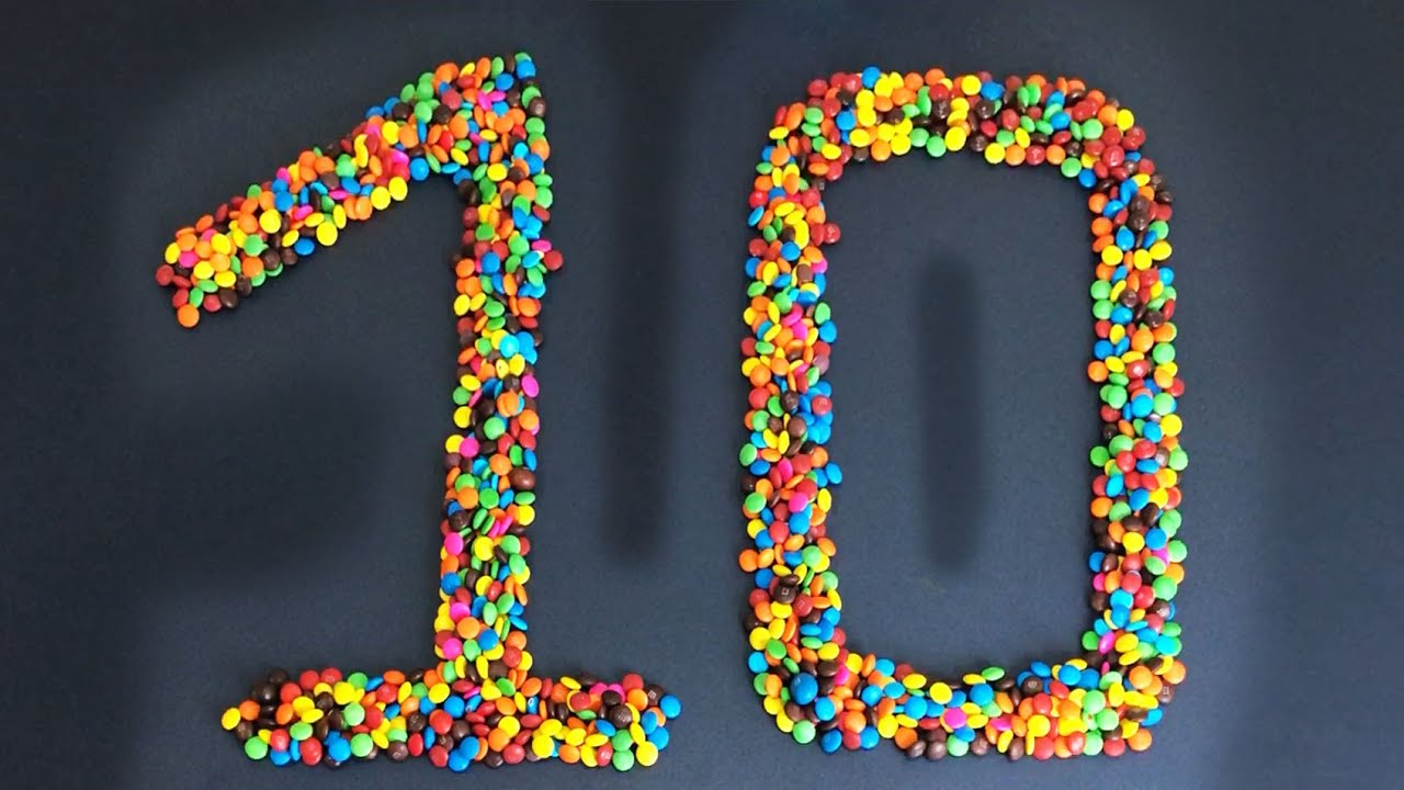 Learn to Know 1-10 Number ❤️ Kid play with color Candy ❤️ Hami Candy