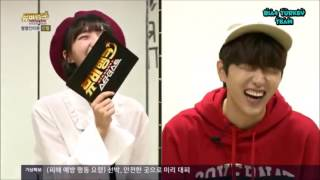 vuclip (Eng Sub) 161005 MV Bank - B1A4 Sandeul And Oh My Girl Binnie Talk About Kiss Scene