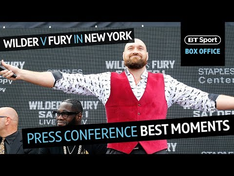 """Funniest moments from Wilder v Fury New York press conference 