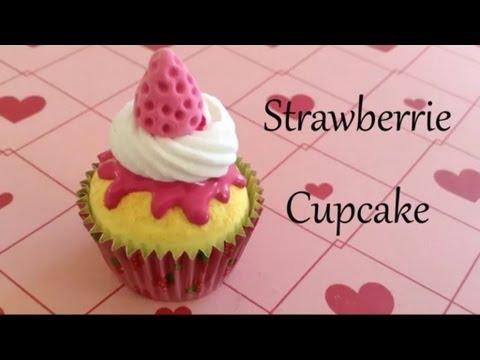 Strawberrie Cupcake Paperclay Tutorial