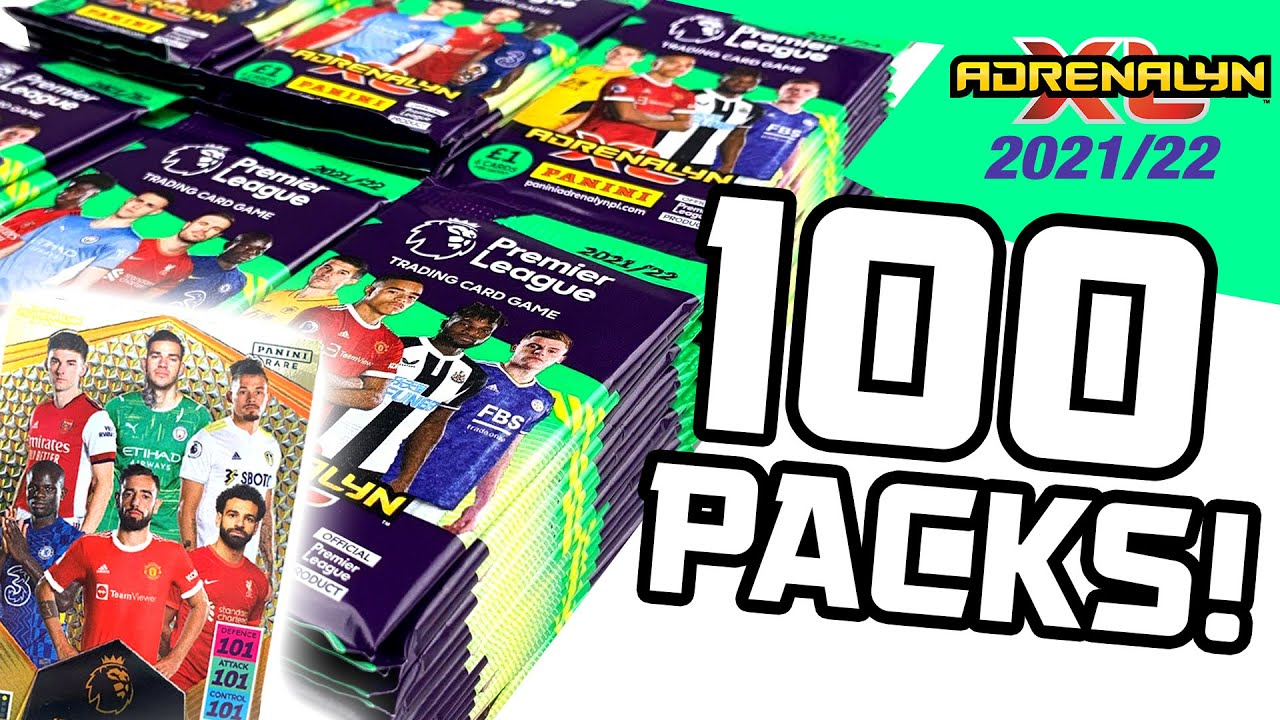 Download Opening *100 PACKS* of ADRENALYN XL PREMIER LEAGUE 2021/22!! (INVINCIBLE CARD PULL!!)