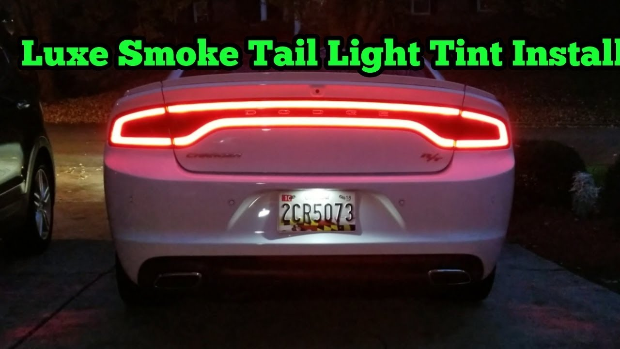 Dodge Charger Tail Lights >> Luxe Tail Light Tint Install On Dodge Charger Rt Youtube