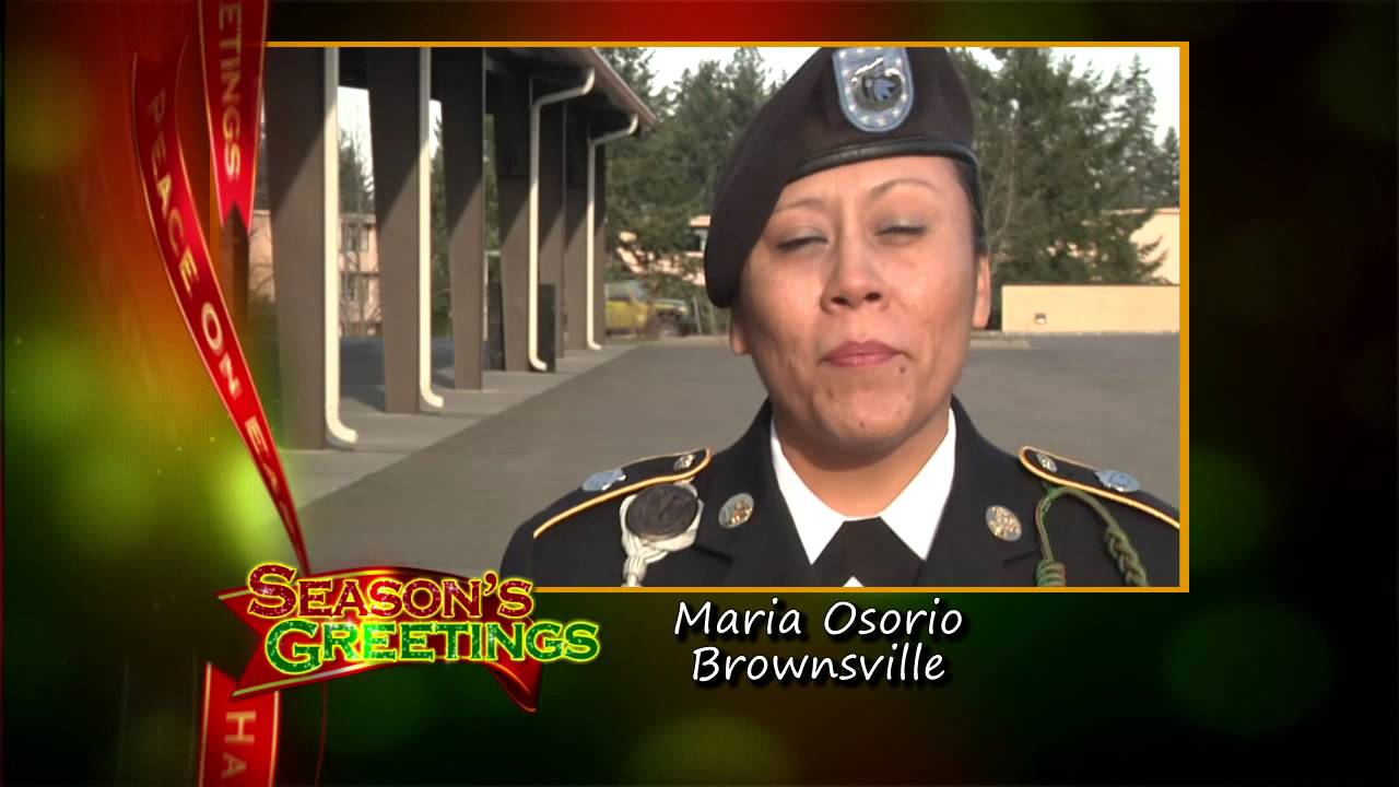 Military Holiday Greeting Maria Osorio Brownsville Tx Youtube