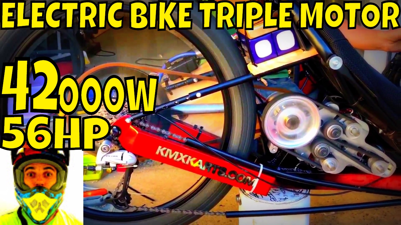 42000w 56hp Electric Bike Triple Motor Video3 Yes The Monster Mdc300120151 Brushless Speed Controllers 1hp And Over Is Rolling First Tests At 300a Youtube