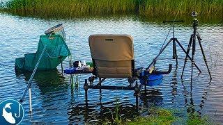 Рыбалка на карася летом в июле Карась на фидер в новом месте. Готовим на природе.