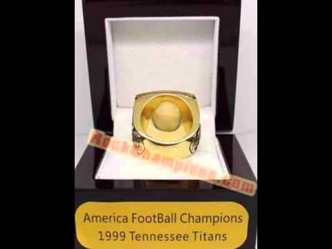 AFC 1999 Tennessee Titans America Football Championship Ring, Custom Championship Ring
