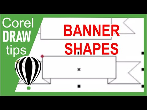 banner shapes tool in coreldraw youtube