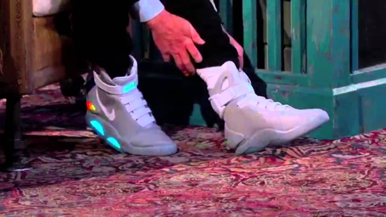 fdbc89866b5 Nike MAG 2015 Introduction !! Back to the future 2 shoes - YouTube
