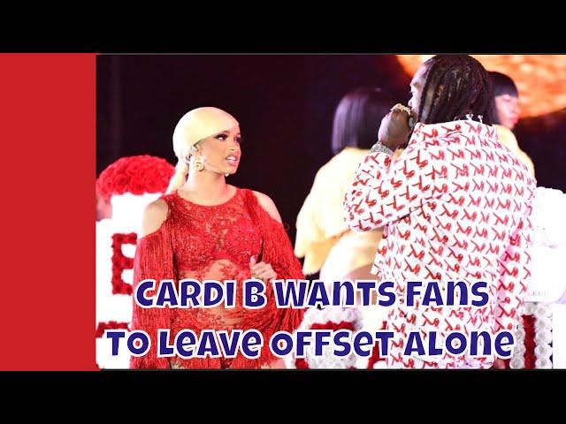Cardi B Tells Her Fans To Stop Violating Offset #cardib #offset