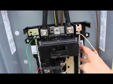 ge sub panel wiring diagram 7 way plug truck diy electrical service installation with 200 amp main breaker - youtube