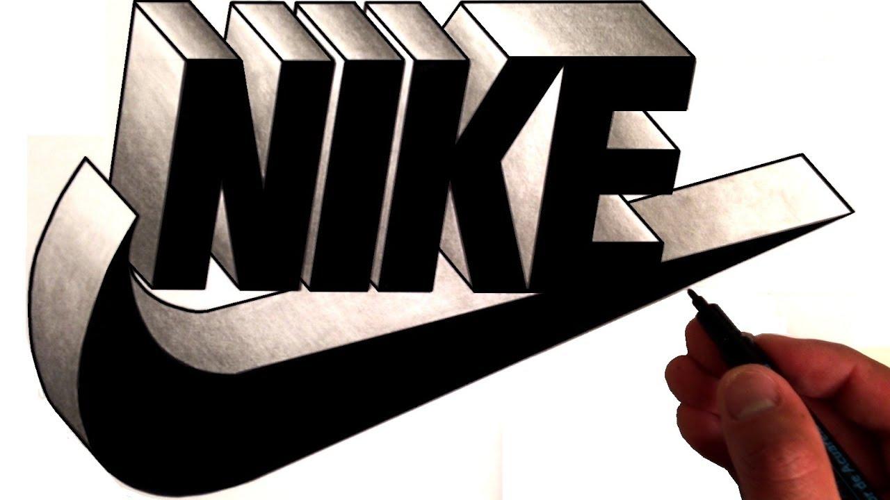 artist draws famous logos in 3d youtube