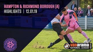 Hampton & Richmond Borough v Dulwich Hamlet, National League South, 12/01/19