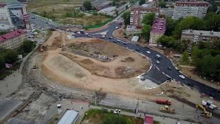 Реконструкция ул. Луначарского/Московское шоссе 05.09.2017