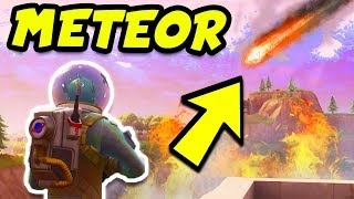 FORTNITE METEOR DESTROYING TILTED TOWERS TODAY!? EMERGENCY BROADCAST! (Fortnite Battle Royale)