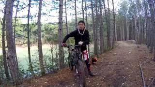 Обучение катанию в горах Тренировка #2, катание в мокрую погоду