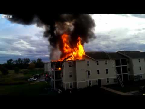 Apartment Fire Starts From Idiot Using