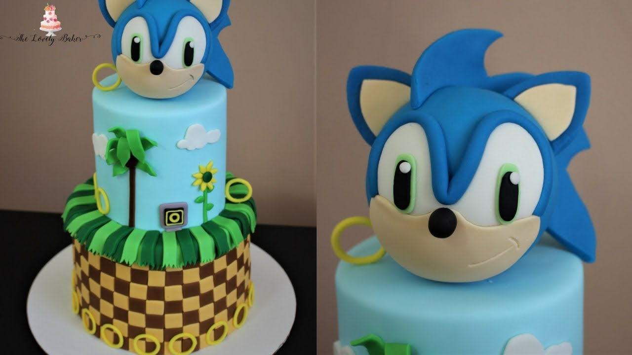 printable sonic the hedgehog cake template