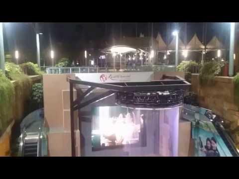Ghostly Dancing Waterfall in Resort World Sentosa Casino Entrance, Singapore