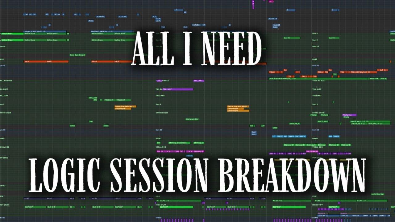 "LOGIC SESSION BREAKDOWN: ""All I Need (with Mahalia & Ty Dolla $ign)"""