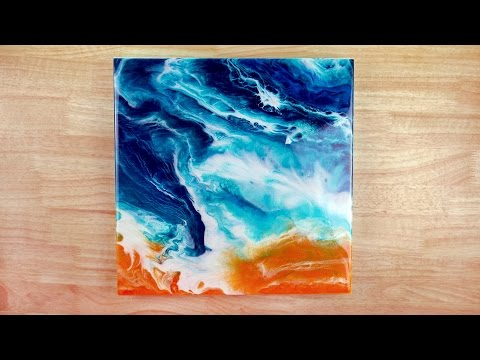 Resin Art - How To Paint The Ocean With Acrylic Paint