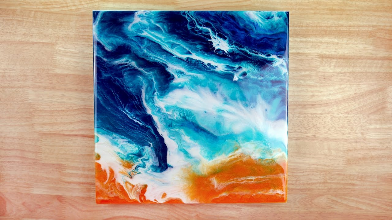 Resin Art How To Paint The Ocean With Acrylic Paint