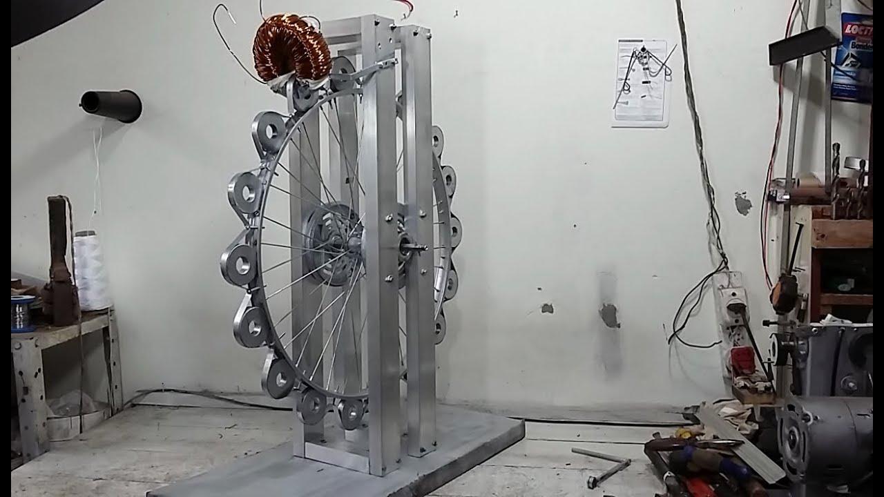 4f83eaea5bc Gerador Eólico com Estator de Motor e Ímãs de Microondas Vídeo 1