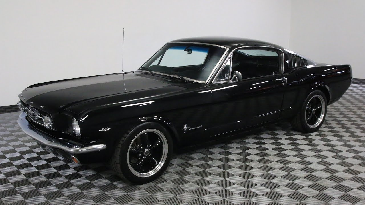 1965 ford mustang fastback black