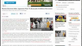 Japanese Plan To Evacuate 40 Million People!